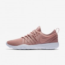 Womens Rust Pink/White/Coral Stardust Nike Free TR7 Training Shoes 356HSFMW