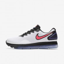 Womens White/Black/Solar Red Nike Zoom All Out Low 2 Running Shoes 360KJTCF