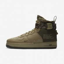 Mens Neutral Olive/Cargo Khaki Nike SF Air Force 1 Mid Lifestyle Shoes 363PQSTC