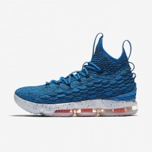 Womens Photo Blue/Total Orange/Summit White Nike LeBron 15 Basketball Shoes 378YOVSI