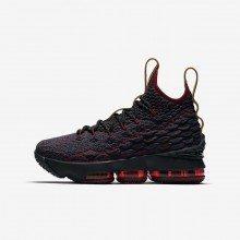 Boys Dark Atomic Teal/Team Red/Muted Bronze/Ale Brown Nike LeBron 15 Basketball Shoes 385SRYJZ