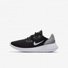 Boys Black/Wolf Grey/White Nike Hakata Lifestyle Shoes 393MCRQV