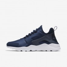 Womens Navy/Obsidian/White/Diffused Blue Nike Air Huarache Ultra Lifestyle Shoes 401FTXDZ