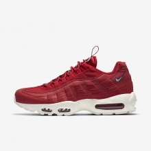 Mens Gym Red/Gym Blue/Sail Nike Air Max 95 Lifestyle Shoes 408EOUXP