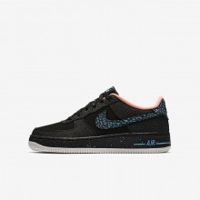 Nike Air Force 1 Pinnacle QS Lifestyle Shoes For Boys Black/Crimson Pulse/Summit White/Lagoon Pulse 412UZVQI