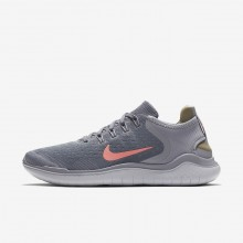 Womens Gunsmoke/Atmosphere Grey/Vast Grey/Crimson Pulse Nike Free RN 2018 Running Shoes 424FOKPI