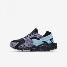 Nike Huarache Pinnacle QS Lifestyle Shoes For Boys Black/Purple Pulse/Summit White/Lagoon Pulse 450BVKHT