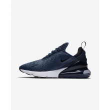Mens Midnight Navy/White/Black Nike Air Max 270 Lifestyle Shoes 458KTJHR