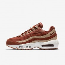 Womens Dusty Peach/Bio Beige/Summit White Nike Air Max 95 LX Lifestyle Shoes 465GYXRS