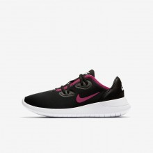 Girls Black/White/Rush Pink Nike Hakata Lifestyle Shoes 465ZPJCE