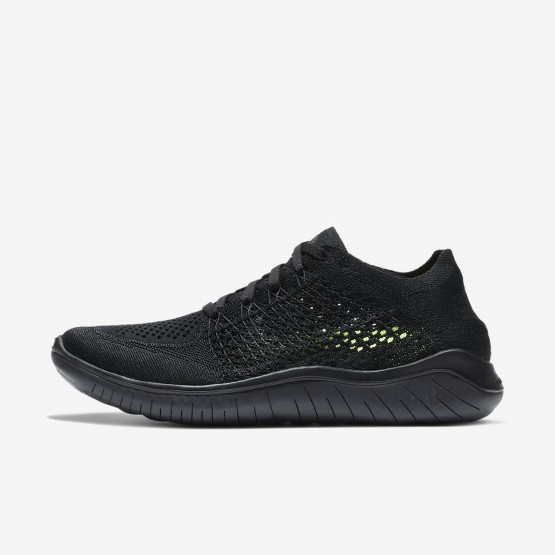 Womens Black/Anthracite Nike Free RN Flyknit 2018 Running Shoes 467GZHSW