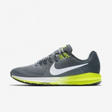 Mens Cool Grey/Anthracite/Volt/White Nike Air Zoom Structure 21 Running Shoes 467UDKCT