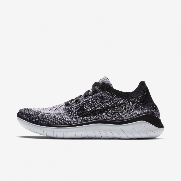 política carril Encarnar  Best Price Nike Free RN Flyknit 2018 Running Shoes For Women White/Black  Outlet UK