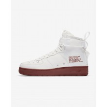 Mens Ivory/Mars Stone Nike SF Air Force 1 Mid Lifestyle Shoes 484GXYPI