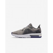 Boys Dark Grey/Moon Particle/Persian Violet/Black Nike Air Max Sequent 3 Running Shoes 486SWPVD