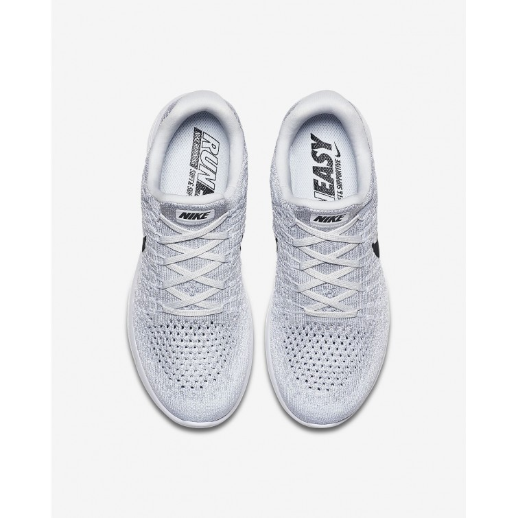 the latest 7f2b4 065bc ... Womens White Pure Platinum Wolf Grey Black Nike LunarEpic Low Flyknit 2  Running ...