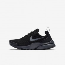 Boys Black/Anthracite Nike Presto Fly Lifestyle Shoes 495YCKPJ
