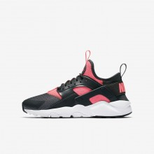 Boys Anthracite/White/Hot Punch Nike Air Huarache Ultra Lifestyle Shoes 498WUVJF