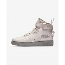 Womens Siltstone Red/Dust Nike SF Air Force 1 Mid Lifestyle Shoes 510PHLUS