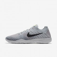 Womens Pure Platinum/Plum Fog/Mica Blue/Anthracite Nike Free TR Flyknit 2 Training Shoes 510UGBKZ