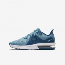 Girls Green Abyss/Bleached Aqua/White/Igloo Nike Air Max Sequent 3 Running Shoes 512IZSMB