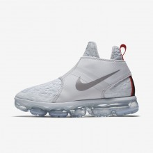 Mens Pure Platinum/White/Team Orange/Reflect Silver Nike Air VaporMax Chukka Slip Lifestyle Shoes 515VQXWL