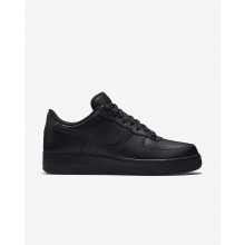 Mens Black Nike Air Force 1 07 Lifestyle Shoes 523BGTDS