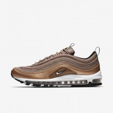 Mens Desert Dust/Metallic Red Bronze/Black/White Nike Air Max 97 Lifestyle Shoes 531WPRXB