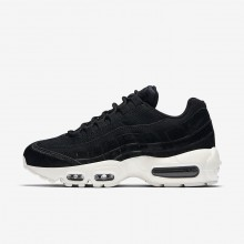 Womens Black/Dark Grey/Sail Nike Air Max 95 LX Lifestyle Shoes 534UXJZK