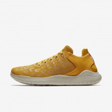 Womens Yellow Ochre/University Gold/Oil Grey Nike Free RN 2018 Wild Running Shoes 538CRPBZ