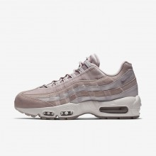 Womens Particle Rose/Vast Grey/Summit White Nike Air Max 95 LX Lifestyle Shoes 542FSXDN