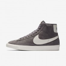 Nike Blazer Mid Vintage Lifestyle Shoes For Women Gunsmoke/Sail/Black 543YSVGZ