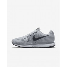 Womens Pure Platinum/Cool Grey/Black/Anthracite Nike Air Zoom Pegasus 34 Running Shoes 544EJNTM