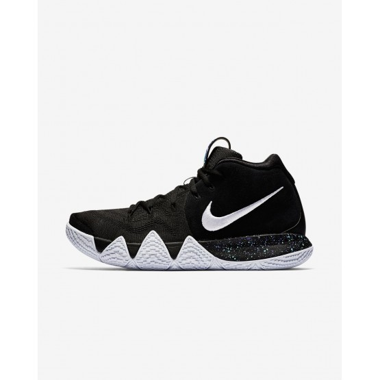Mens Black/Anthracite/Light Racer Blue/White Nike Kyrie 4 Basketball Shoes 561KCGFP