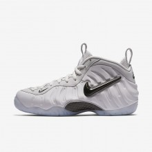 Mens Vast Grey/Black Nike Air Foamposite Pro QS Lifestyle Shoes 602RXHUY
