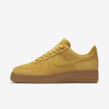 Nike Air Force 1 07 SE Lifestyle Shoes For Women Mineral Yellow/Gum Light Brown/Elemental Gold 603TRPWJ