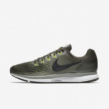 Mens Sequoia/Dark Stucco/Volt/Black Nike Air Zoom Pegasus 34 Running Shoes 608IVQJF