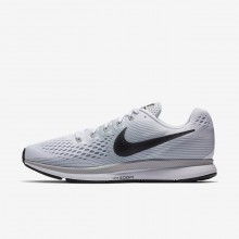 Mens White/Pure Platinum/Wolf Grey/Anthracite Nike Air Zoom Pegasus 34 Running Shoes 610KAMWL
