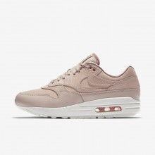 Womens Particle Beige/Particle Pink/Summit White Nike Air Max 1 Premium Lifestyle Shoes 617TVUPE