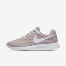 Womens Particle Rose/White Nike Tanjun Lifestyle Shoes 623PIEHU