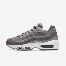Womens Gunsmoke/Atmosphere Grey/Summit White Nike Air Max 95 LX Lifestyle Shoes 624YEVFD