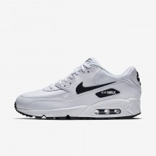 Womens White/Black Nike Air Max 90 Lifestyle Shoes 632YWPCS