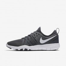 Womens Dark Grey/White Nike Free TR7 Training Shoes 637HZKDY