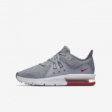 Boys Wolf Grey/Anthracite/Pure Platinum Nike Air Max Sequent 3 Running Shoes 653JBDNE
