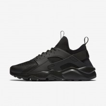 Mens Black Nike Air Huarache Ultra Lifestyle Shoes 656QFJHB