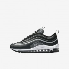 Boys Black/Anthracite/White/Pure Platinum Nike Air Max 97 Ultra 17 Lifestyle Shoes 659UNXLO