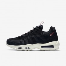 Mens Black/Gym Red/Sail Nike Air Max 95 Lifestyle Shoes 662AVGDH