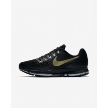 Womens Black/Anthracite/White/Metallic Gold Star Nike Air Zoom Pegasus 34 Running Shoes 662STUEA