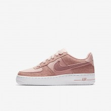 Nike Air Force 1 LV8 Lifestyle Shoes For Girls Coral Stardust/White/Rust Pink 663JXIHG