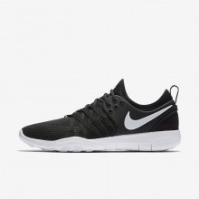 Womens Black/White Nike Free TR7 Training Shoes 664VCLRU